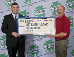 Luzerne County Man Claims $37.6 Million Powerball® Jackpot