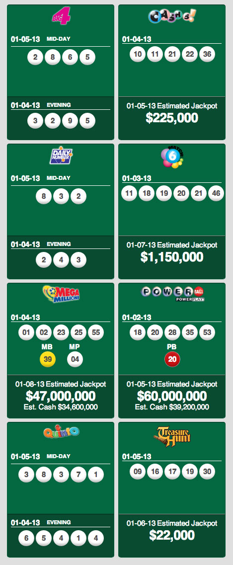State Lottery Results