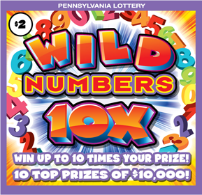Pennsylvania Lottery - Scratch-Offs - Wild Numbers 5X