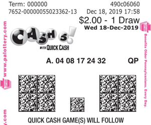 Pennsylvania Lottery - Cash 5 - Draw Games & Results