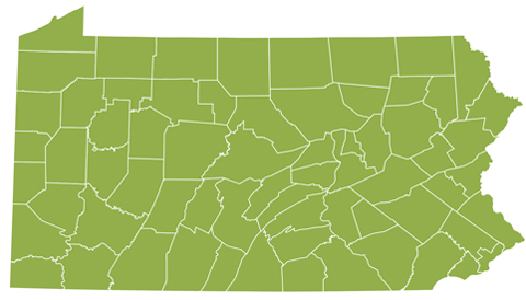 Pennsylvania Lottery Pa Lottery Winners Map
