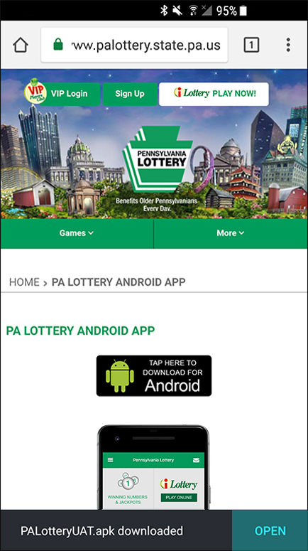 Pennsylvania Lottery - PA Lottery Official Mobile App - Android