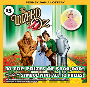 Pennsylvania Lottery - Scratch-Offs - THE WIZARD OF OZ™