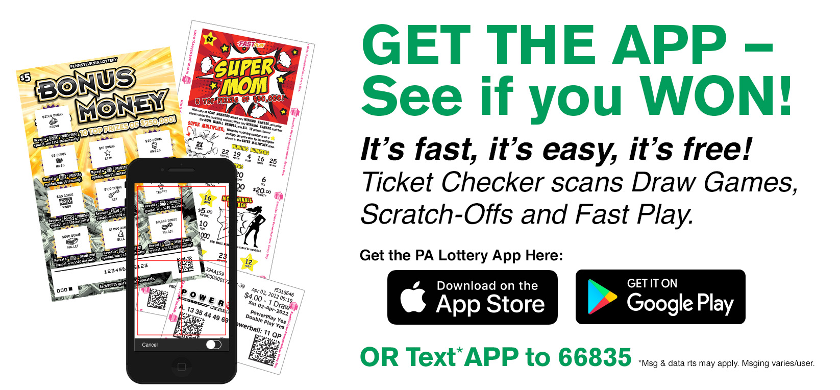 Ticket Checker, Use the App to See if You Won!