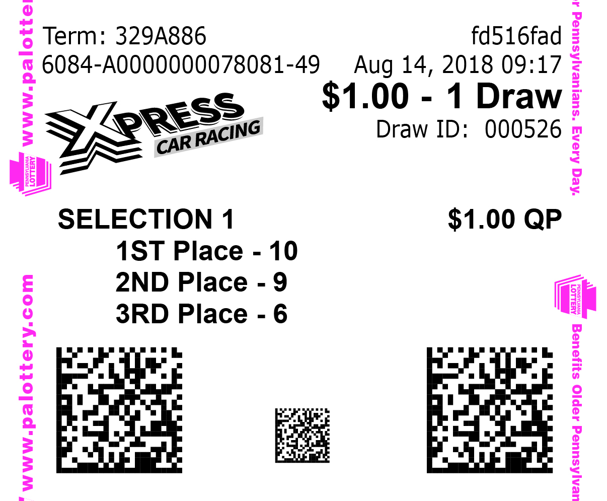 Sample Xpress Car Racing Ticket