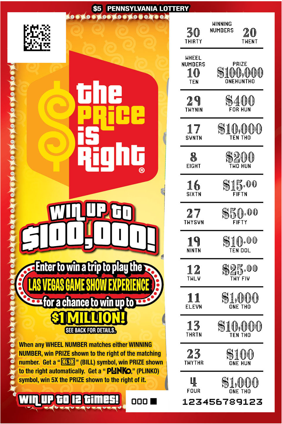 Pennsylvania Lottery - Instant Games - PA Lottery Games