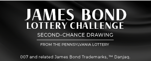James Bond Lottery Challenge Second-Chance Drawing