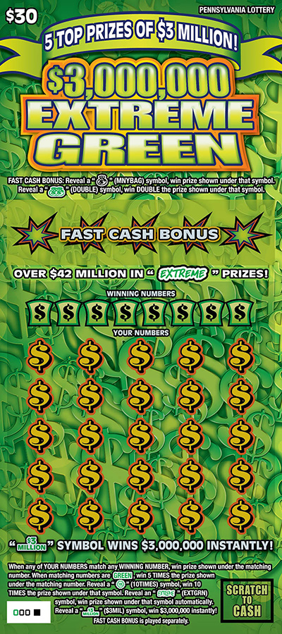 pennsylvania lottery - scratch-offs