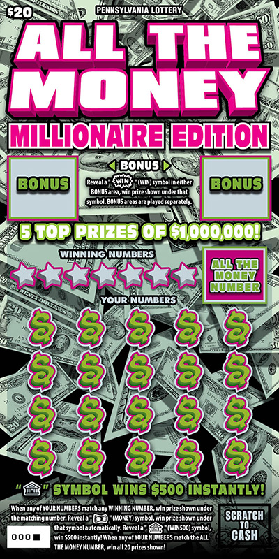 Pennsylvania Lottery - Scratch-Offs - All the Money