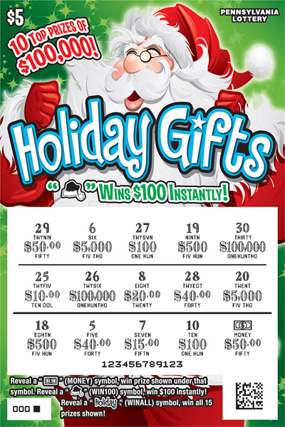 Pennsylvania Lottery - Scratch-Offs - Holiday Gifts