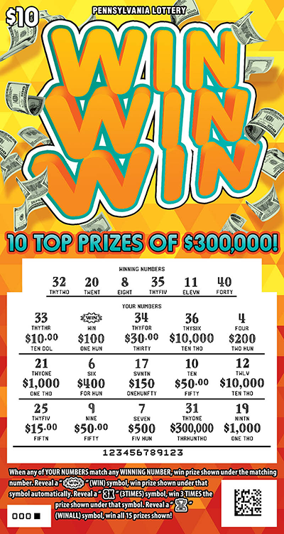 Pennsylvania Lottery - Scratch-Offs - Win Win Win