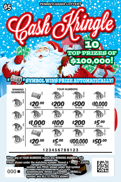 Pennsylvania Lottery - Scratch-Offs - Cash Kringle